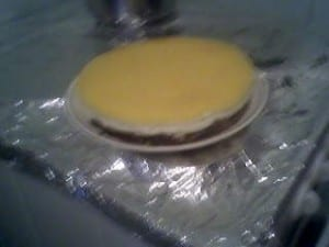 ma premiere cheesecake au jus d'orange