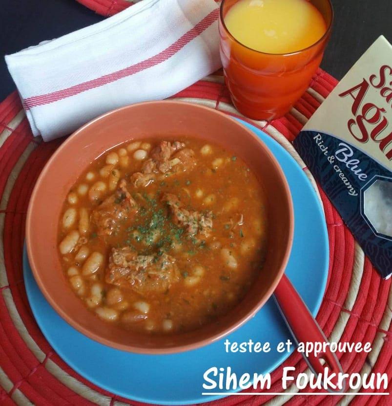 Haricots blancs en sauce rouge loubia amour de cuisine for Amour de cuisine de sihem