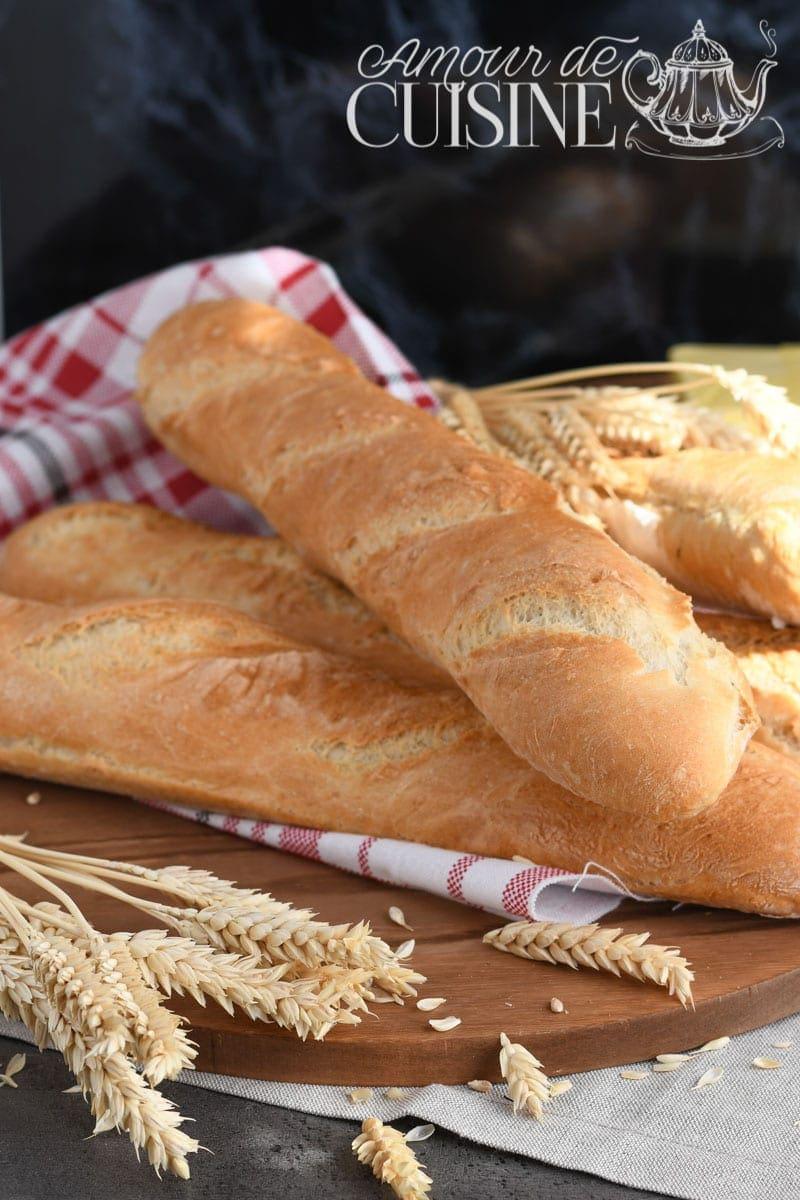 recette de pain baguette française sans pétrissage