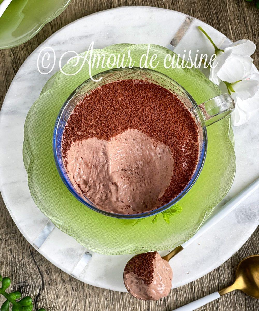 mousse au chocolat aux oeufs