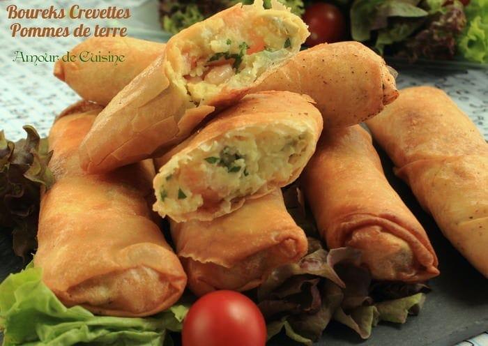 Boureks Aux Crevettes Et Pommes De Terre Amour De Cuisine