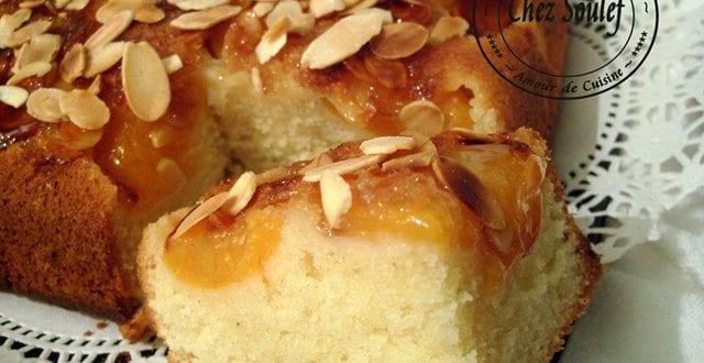 gâteau renversé abricot amandes acacia