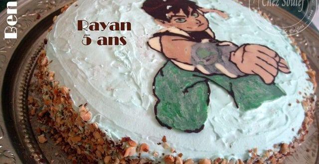 Ben 10, le gateau d'anniversaire de Rayan