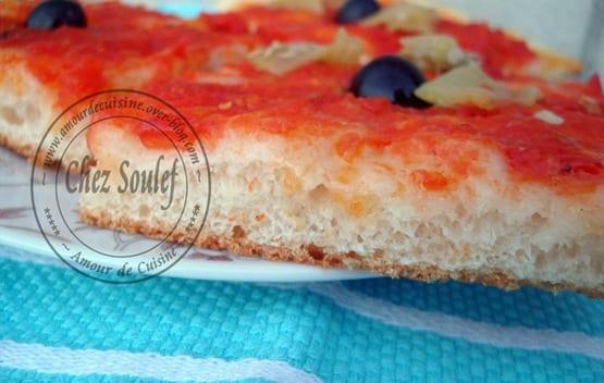 P te a pizza maison recette facile amour de cuisine - Un amour de cuisine chez soulef ...