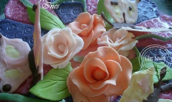 rose en pate a sucre