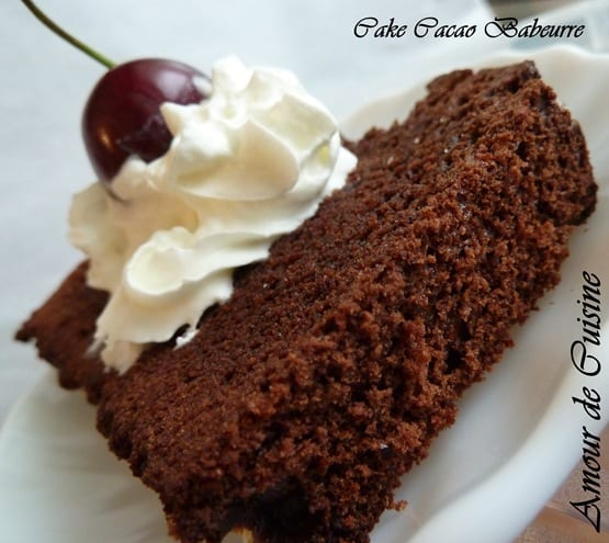 cake cacao Babeurre ou lait ribot