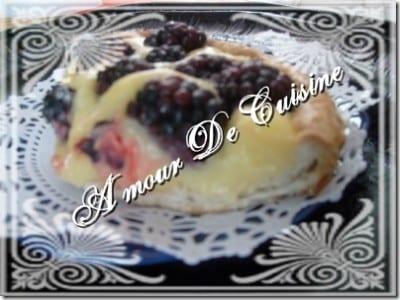 tarte aux mûres a la creme citronnée