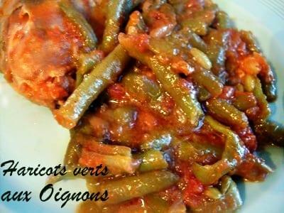 Haricots verts à la tomates  Cuisine Marocaine