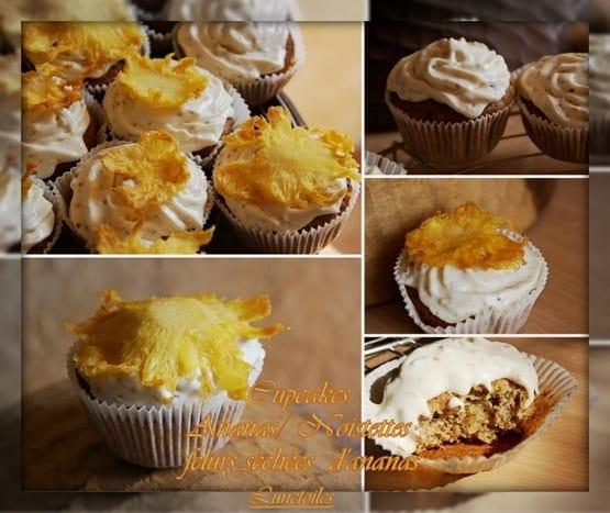 cupcakes ananas noisettes