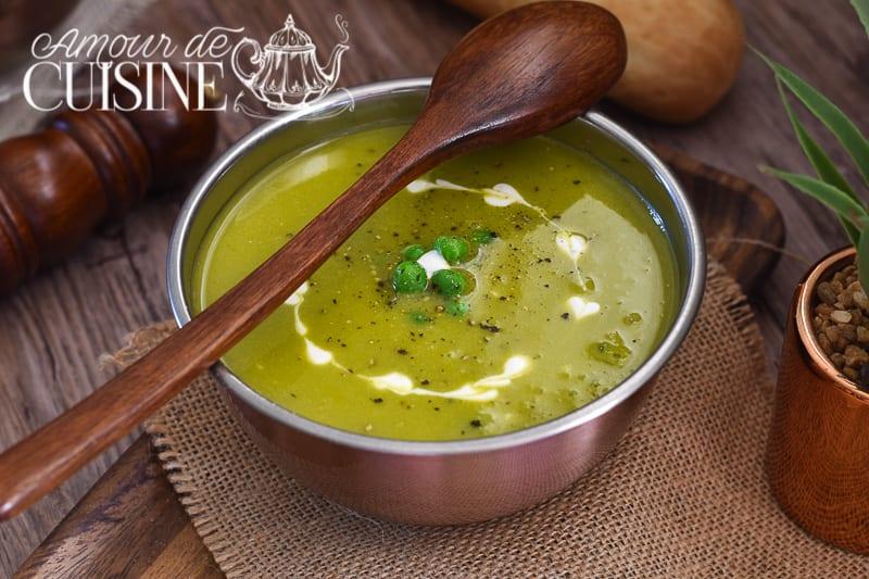 soupe ou velouté de petits pois