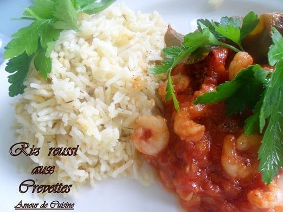 Riz réussi a la crevette en sauce tomate 1