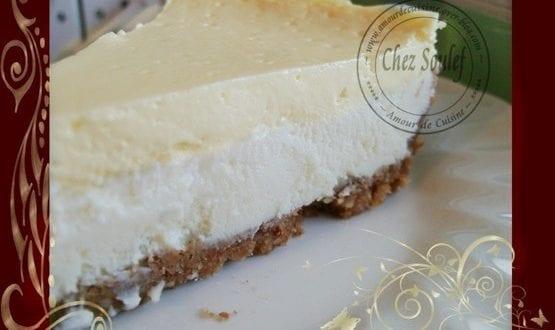 Cheesecake chocolat blanc – amandes