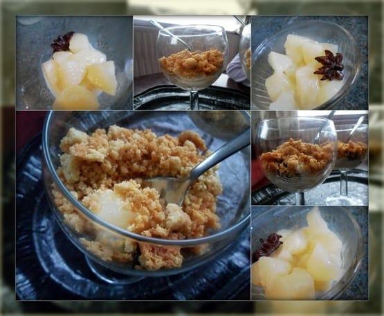 crumble poire anis 1