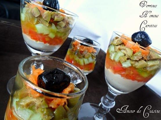 verrines aperitifs humous carottes 1
