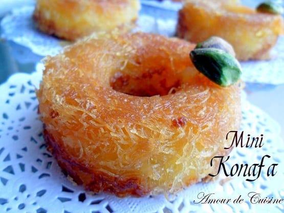 Mini konafa, ktayefs a la creme dessert ramadan 2017