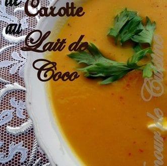veloute de carotte au lait de coco maison