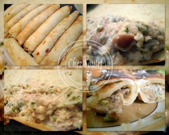 crepes farcies au poulet