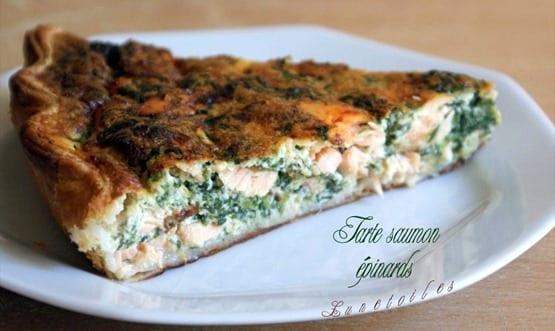Tarte saumon épinards1