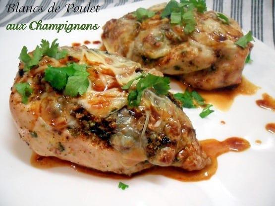 Blancs de poulet farcis aux champignons de choumicha amour - Comment cuisiner des blancs de poulet ...