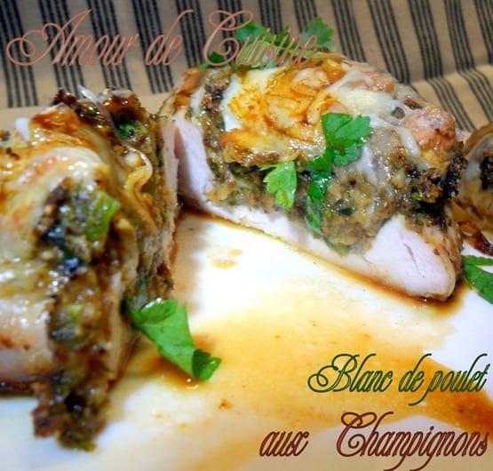 blanc de poulet champignon de choumicha