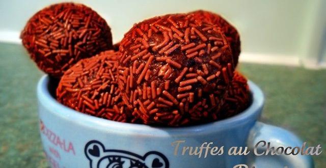 truffes au chocolat et biscuits