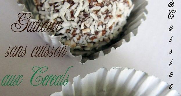 Gateaux sans cuisson aux cereales