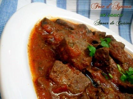 recette kebda mchermal foie d'agneau en sauce