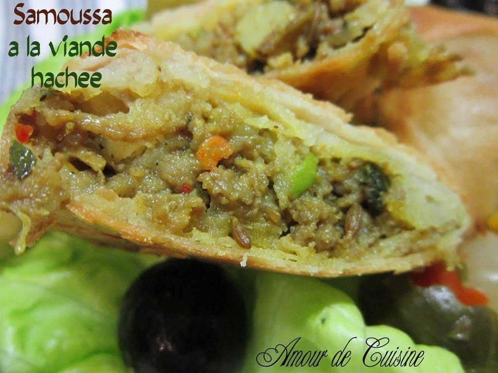 Samoussa a la viande hachee samoussas amour de cuisine for 1 amour de cuisine