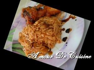 riz au poulet typiquement Algerois, plat Algerien