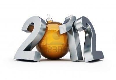 bonne et heureuse année 2012 Banque d'images - 8685213