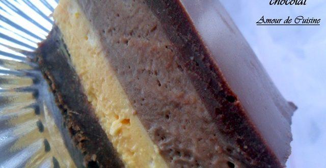 bavarois confiture d'orange /chocolat / ganache chocolat