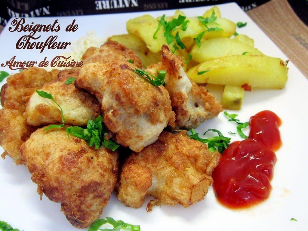 Beignets de chou fleur amour de cuisine for 1 amour de cuisine