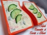 Salade de concombre carotte au yaourt