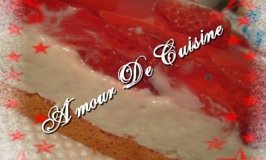 mon gateau d'Amour a la fraise