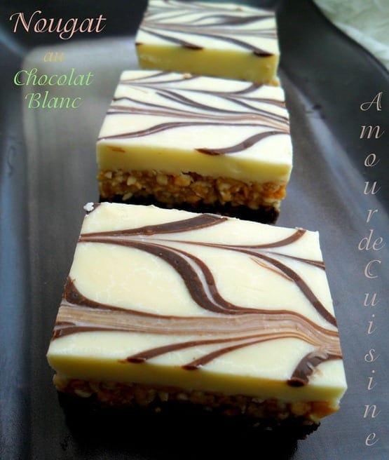 Nougat au chocolat blanc \u2013 gateau sans cuisson