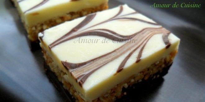 Nougat au chocolat blanc gateau sans cuisson amour de cuisine - Gateau au chocolat sans four ...