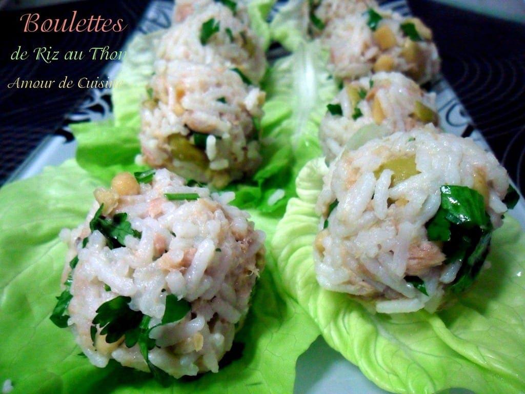 amuse bouche boulettes de riz au thon