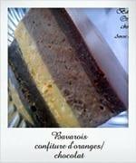 bavarois confiture d'orange chocolat