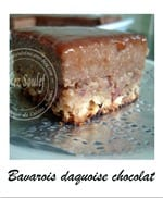 bavarois daquoise chocolat
