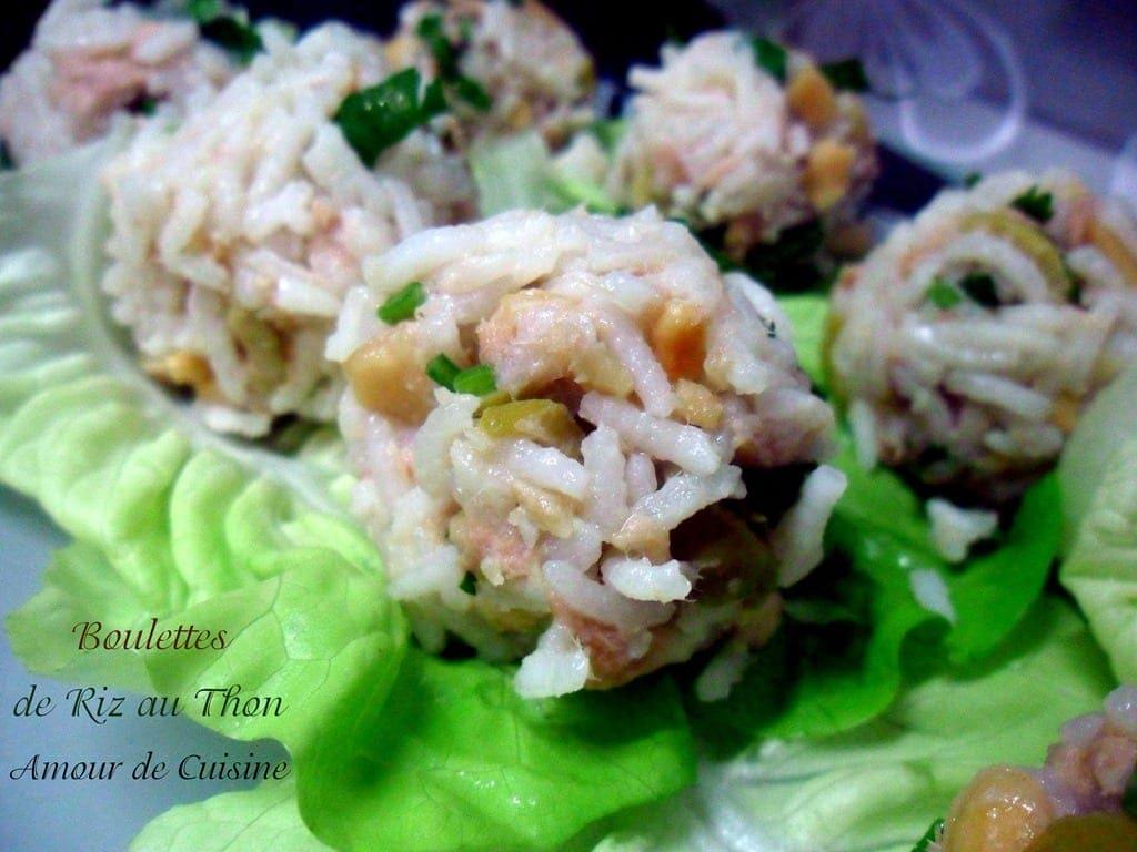 bouchées de riz au thon