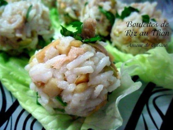 boulettes de riz au thon