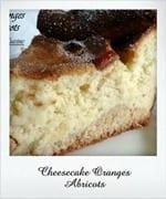 cheesecake orange abricot