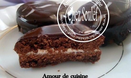 Rondelles chocolatées a la crème «دوائر بالشكولاطه و الكريمه»