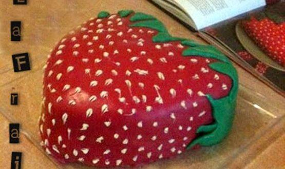la fraise, gateau d'anniversaire