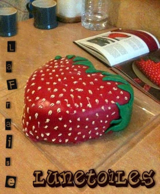 la fraise, gateau d'anniversaire le fraisier