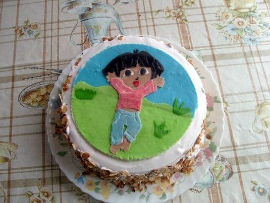 recette du gateau d'anniversaire Dora de Ines