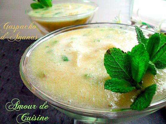 gaspacho d'ananas 1