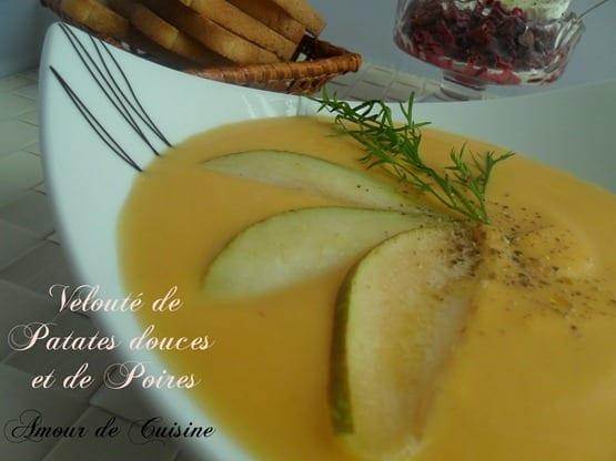 soupe patate douce et poires 007