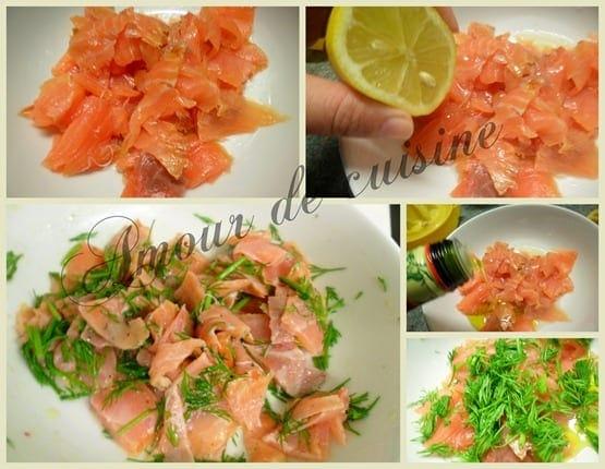 tartare de saumon fume