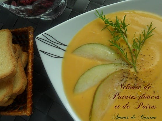 veloute patate douce et poires 003